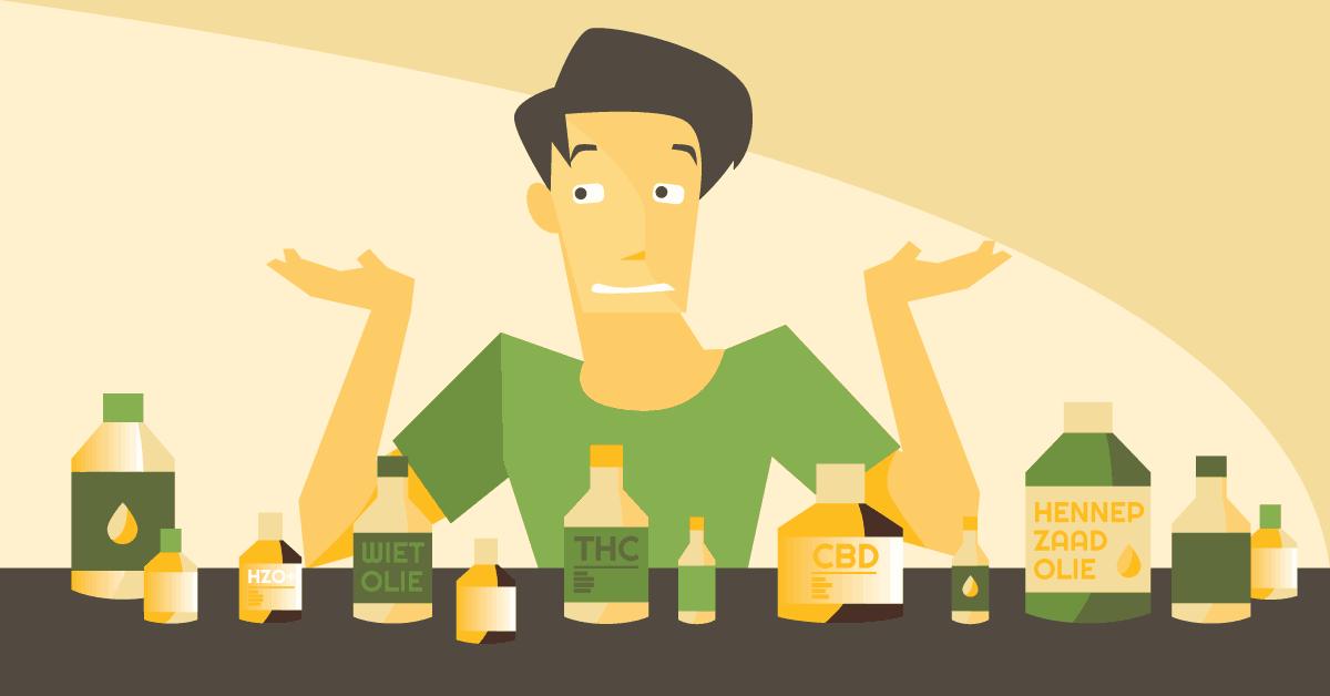 Verschil wietolie hennepolie cbd olie cannabisolie thc olie